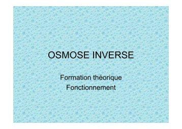 Osmose inverse - studi'eau