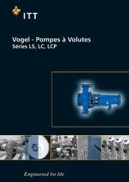 pompes à volute, série ls, lc, lcp - Pumpenfabrik Ernst Vogel