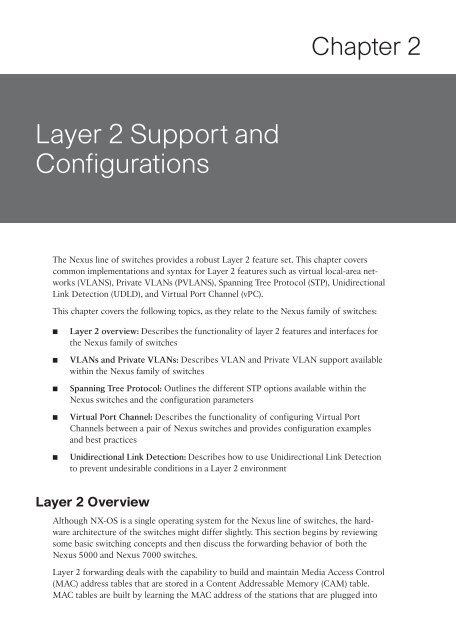 Layer 2 Support and Configurations