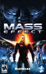 Mass Effect Manuals - PC - Help - Electronic Arts