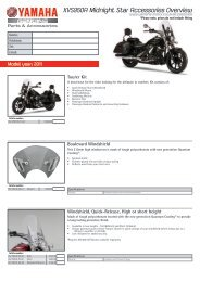 XVS950A Midnight Star Accessories Overview - Yamaha Motor ...