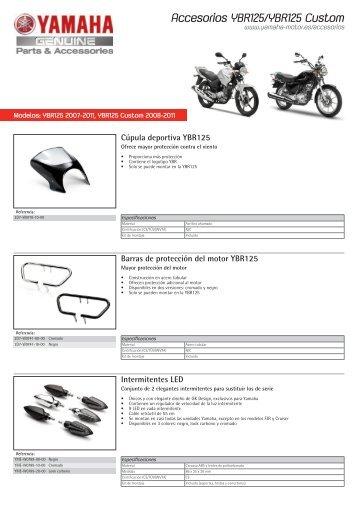 Accesorios YBR125/YBR125 Custom - Yamaha Motor Europe