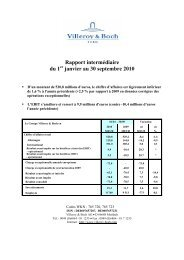 2Rapport intermédiaire du 1 janvier au 30 ... - Villeroy & Boch