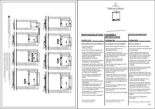 MONTAGEANLEITUNG ASSEMBLY INSTRUCTIONS - Villeroy & Boch