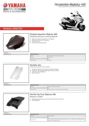 Accesorios Majesty 400 - Yamaha Motor Europe