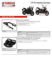 FZ8 Accessories Overview - Yamaha Motor Europe