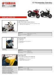 FZ1 Accessories Overview - Yamaha Motor Europe