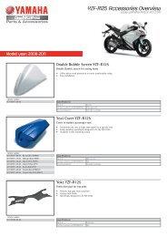 Double Bubble Screen YZF-R125 - Yamaha Motor Europe