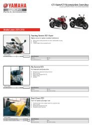 Model year - Yamaha Motor Europe