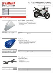 YZF-R125 Accessories Overview - Yamaha Motor Europe
