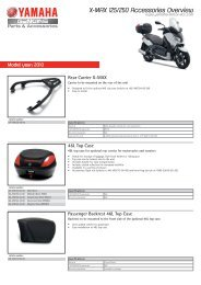 X-MAX 125/250 Accessories Overview - Yamaha Motor Europe