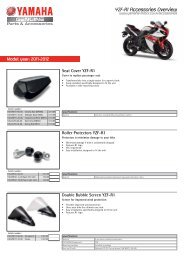 YZF-R1 Accessories Overview - Yamaha Motor Europe