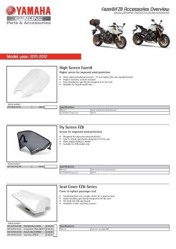 Model year: 2011-2012 - Yamaha Motor Europe