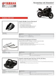 Accesorios XJ6 DiversionF - Yamaha Motor Europe