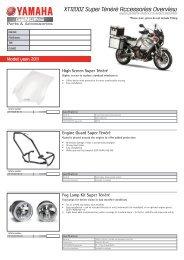 XT1200Z Super Ténéré Accessories Overview - Yamaha Motor ...