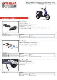 Slider Naked Accessories Overview - Yamaha Motor Europe