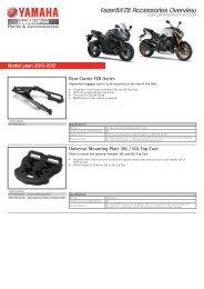 Fazer8/FZ8 Accessories Overview - Yamaha Motor Europe