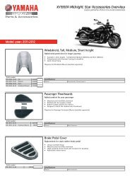 XV1900A Midnight Star Accessories Overview - Yamaha Motor Europe