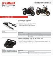 Accesorios Fazer8/FZ8 - Yamaha Motor Europe