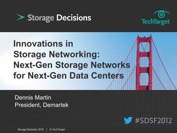 Innovations in Storage Networking: Next-Gen Storage Networks for ...