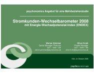 Abonnement Stromkunden-Wechselbarometer 2008 - YouGov