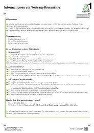 Informationen zur Vertragsübernahme - A1.net