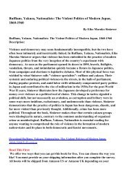 Ruffians, Yakuza, Nationalists: The Violent Politics of Modern Japan ...