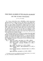 TIIE VIRGIL GLOSSES OF THE ABOLITA GLOSSARY