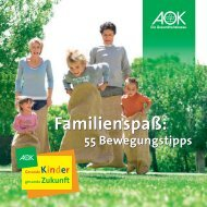 55 Bewegungstipps - AOK-Kindertheater