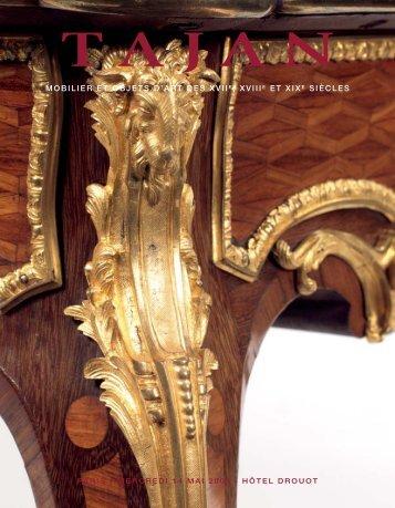 mobilier et objets d'art des xviie , xviiie et xixe siècles - Tajan