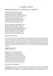 1 DA OMERO A VIRGILIO Publius Baebius Italicus (I sec. d. C ...