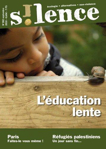 L'éducation lente, dossier de la revue - education-authentique.org