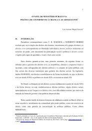 O papel do Ministério Público na política de - eGov UFSC