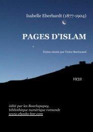 PAGES D'ISLAM - Bibliothèque numérique romande