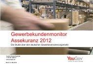 Gewerbekundenmonitor Assekuranz 2012 - YouGov