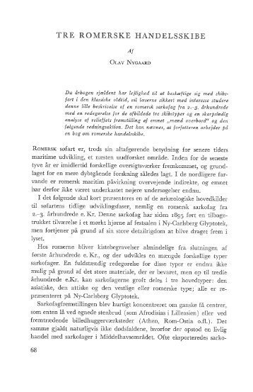 Olav Nygaard: Tre romerske handelsskibe, s. 68-75