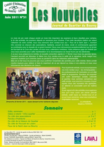 Les nouvelles : Journal de quartier du bourny juin 2011