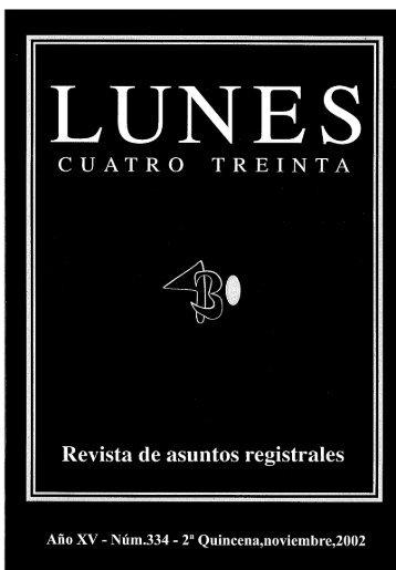 Revista nº 334.pdf - Registradores Comunidad Valenciana