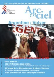 Argentine : Volver - Nouveaux Droits de l'Homme