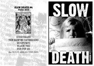 slow death #4 subhumans the saintes catherines mugwumps black ...