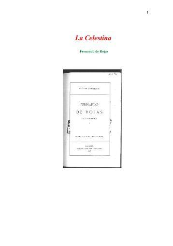 Resumen de La Celestina