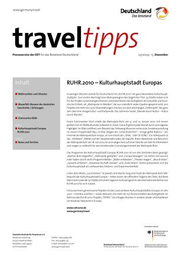 RUHR.2010 – Kulturhauptstadt Europas Inhalt - Germany Travel