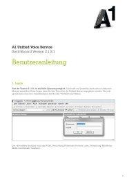 Benutzeranleitung Switchboard - A1.net