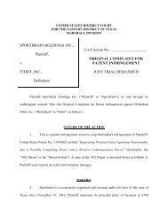 SPORTBRAIN HOLDINGS INC., Plaintiff, v. FITBIT, INC., Defendant ...