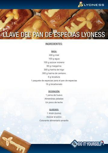 LLAVE DEL PAN DE ESPECIAS LYONESS