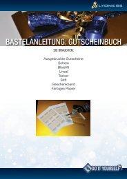 BASTELANLEITUNG: GUTSCHEINBUCH - Lyoness