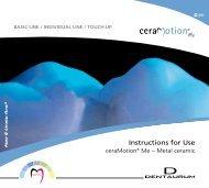 ceraMotion® Me Gebrauchsanweisung - DENTAURUM