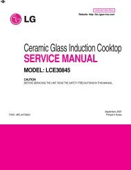 Ceramic Glass Induction Cooktop SERVICE MANUAL - Appliance ...