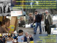 Interdisciplinarity and the sharing of oral data open new ...