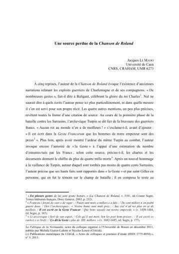 Actes (mai 2012) - CÉRÉdI Centre d'Études et de Recherche Éditer ...